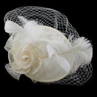 Linen White Feather Hatinator