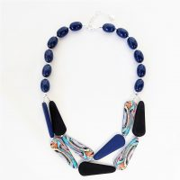 Navy and Black Pebble Necklace