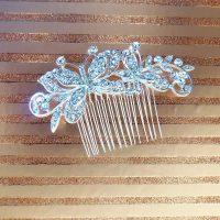 Silver Diamante Hair Comb