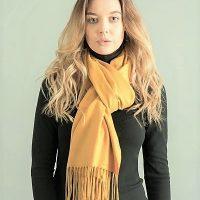 Light Yellow Cashmere Pashmina Shawl