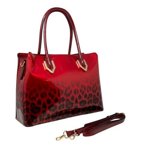 Red Leopard Handbag