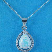 925 Opal Teardrop Necklace